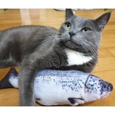 Cat Plush Wagging Fish